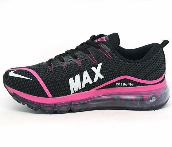 91c284d24e4 Tênis Nike Air Max Fury Feminino Nike  bc7ae095892 Tênis Feminino  Nike Air Max Elite Preto e Rosa - Roupas e calçados . ... 12876b9d57de0
