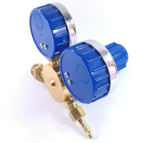 Regulador de Pressão para Cilindro de Gás Argônio ou Mistura Relógio/Manômetro - Foto 5