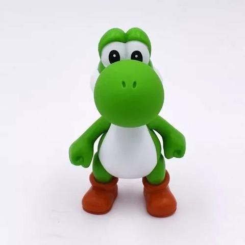 3 Bonecos Super Mario Bros Yoshi, Luigi, Mario Grandes 13cm - Foto 3