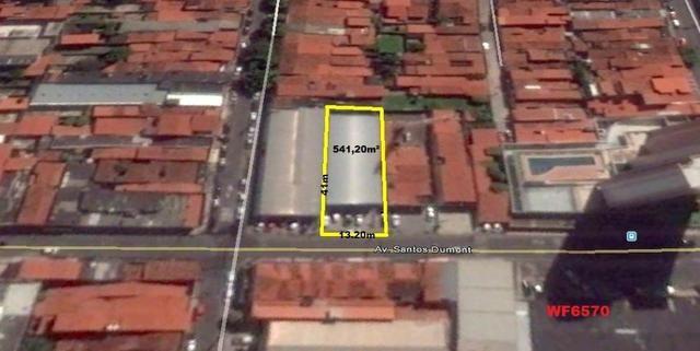 GA0013 Galpão na Avenida Santos Dumont, Galpão na Aldeota, 541m², doca, vagas de garagem