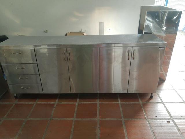 10x SEM JUROS* Coifas, mesas, pias, bancadas em inox - Foto 6