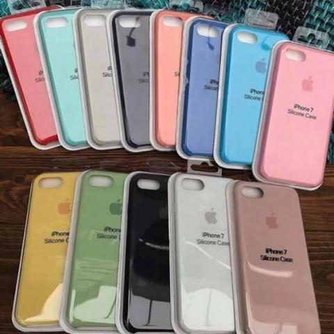 Case capa de silicone Apple para IPhone 6, 6s, 7, 8, 7 Plus, 8 Plus, X, XS é iPhone 11 - Foto 2