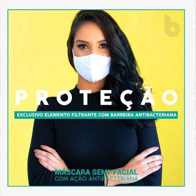 Máscara Reutilizável Bojo Brasil Preta Tamanho único - Foto 5