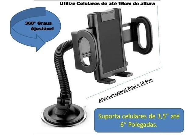 Suporte Veicular Universal Celular Gps Carro Articulado LE022 - Loja Natan Abreu