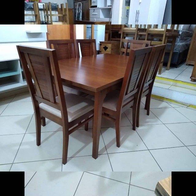 Mesa de jantar 6 cadeiras - Foto 5