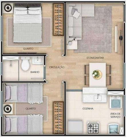 Residencial de Montalcino , 39 - 61m², 2 quartos - Monte Castelo, Campo Grande - MS - Foto 10