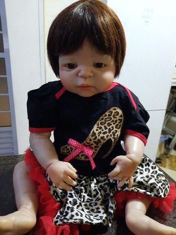 Bebê Reborn Menina de Silicone - Bebê Reborn Realista<br> - Foto 2