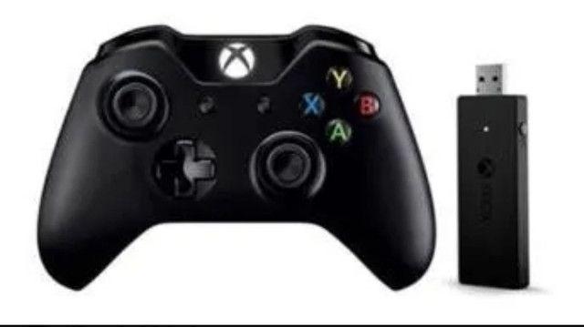 Controle Xbox One Sem fio entrada P2 +  adaptador  PC  - Foto 2