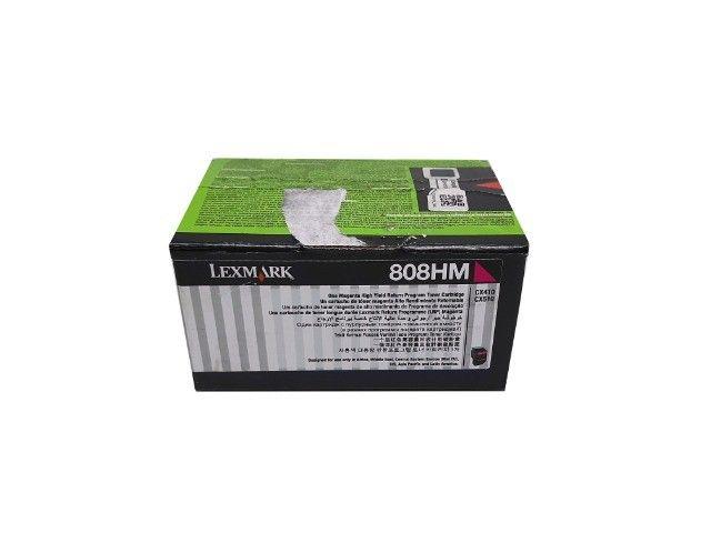 Toner Lexmark 808HM / 80C8HM0 Magenta Original Novo