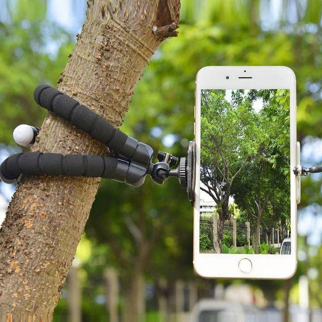 Tripé Suporte Flexível  Para Celular Camera MiniPod Selfie - Foto 3