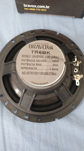 Alto falante 6 polegadas Bravox Black 160w RMS, novo! Forte - Foto 5