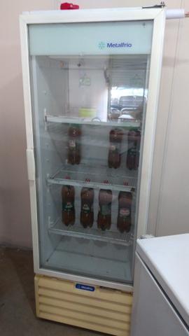 Freezer vertical metalfrio, branco 400lt