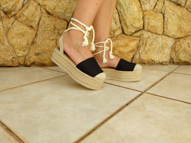 Sandália Flat salto corda - Loretta - Foto 2