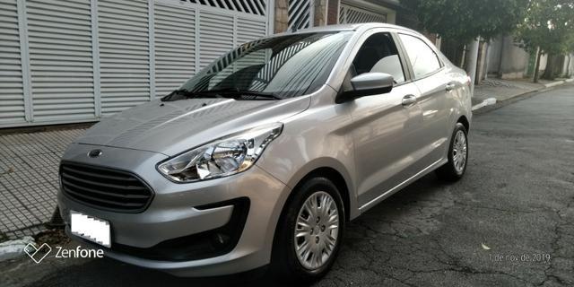 Ford Ká 1.5 SE Plus Sedan - Automático - Prata 2019-(Único Dono)