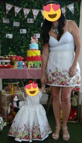 77d1271643 Vestido festa 1 ano + saia p  mãe - Artigos infantis - Inácio ...