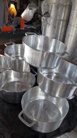 Panelas de alumínio batido Grosso - Foto 3
