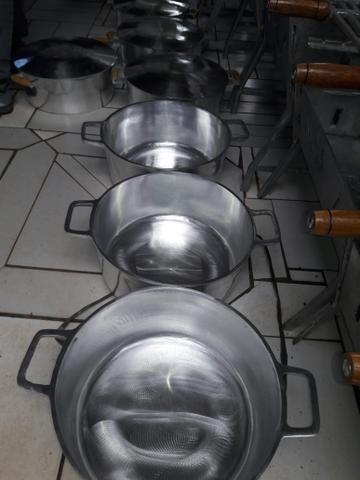 Panelas de luminio batido de 6 lts