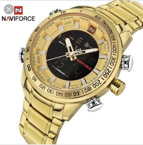 Promoção só HOJE relógio Naviforce original lacrado analógico e Digital - Foto 2