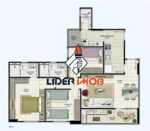 Apartamento alto padrão 3 quartos com suíte para venda no santa monica - dom vertical - Foto 6