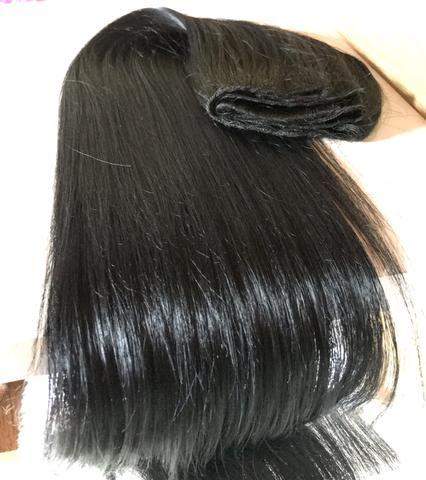 Human Hindu hair preto cabelo misturado - Foto 5