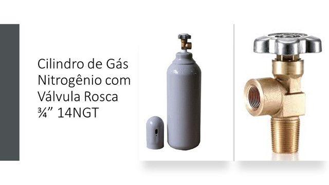 Regulador de Pressão 180psi + Cilindro 7L Nitrogênio Refrigeração Novo - Foto 4