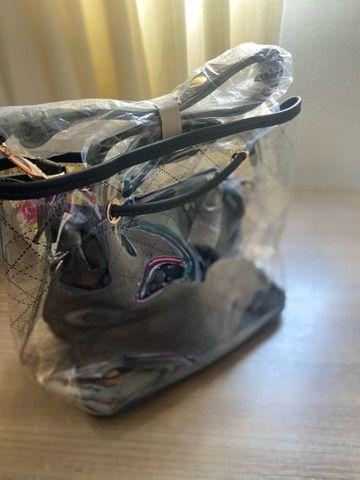 Bolsa transparente feminina médio 2x cartão  - Foto 3