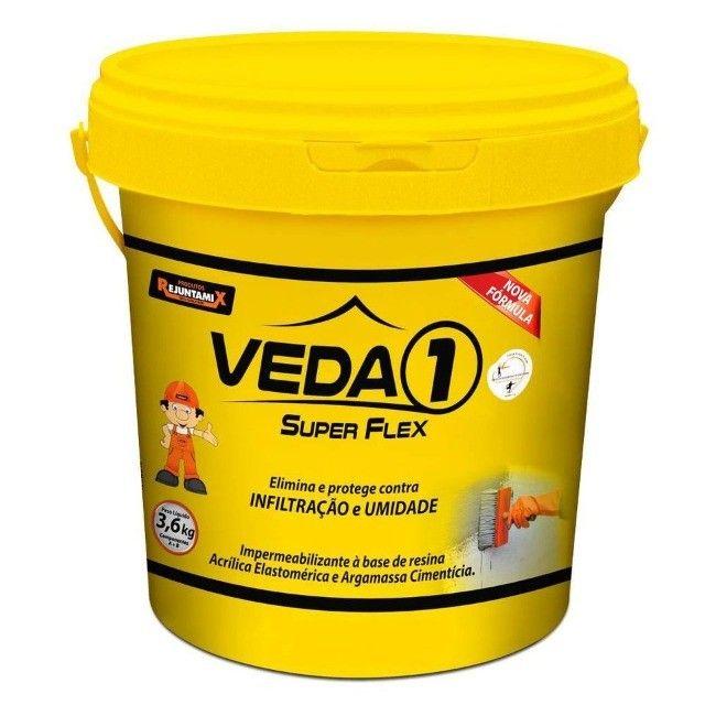 Impermeabilizante Veda 1 Super Flex 3,6kg Cinza - Rejuntamix