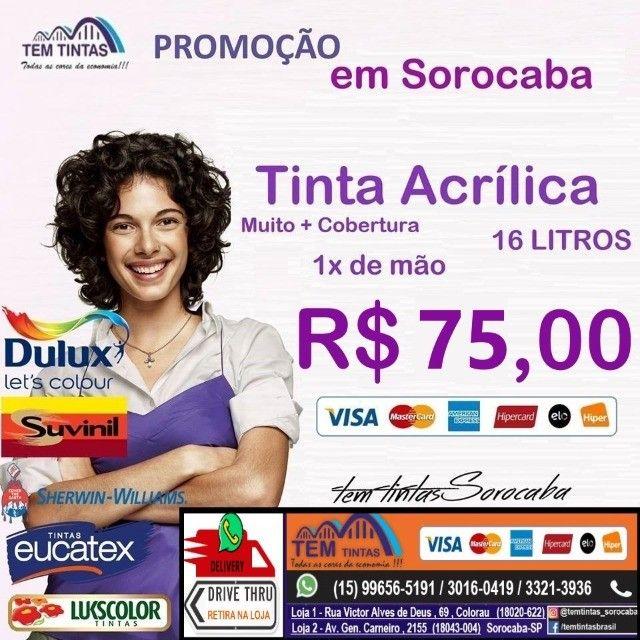 __.Promoção Relâmpago - Tinta Acrílica de 16 L- Cobre 1x de mão - De: R$95,00 por 75,00