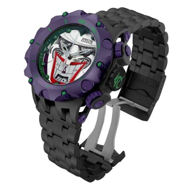 Relogio masculino Invicta Venom Hybrid Joker Coringa Edição limitada Dc Comics - Foto 3