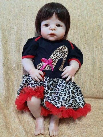 Bebê Reborn Menina de Silicone - Bebê Reborn Realista<br> - Foto 4