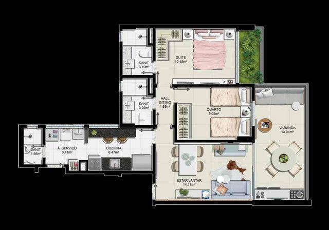 Apartamento 2/4 com suíte e varanda, no Caminho das Árvores - Seven Garden! - Foto 5