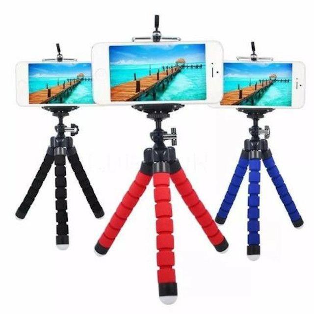Tripé Suporte Flexível  Para Celular Camera MiniPod Selfie - Foto 5