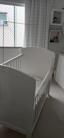 Berço americano Mini Cama Nick Peroba Móveis Branco - Móveis peroba - ótimo estado - Foto 2