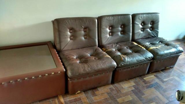 Sofá vintage em couro