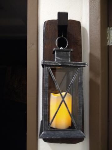 Luminária com suporte em madeira rústico - Foto 6