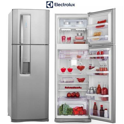 4731c29e0 Geladeira Refrigerador Eletrolux Duplex Inox 380 Litros (Modelo DW42X)