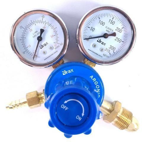 Regulador de Pressão para Cilindro de Gás Argônio ou Mistura Relógio/Manômetro