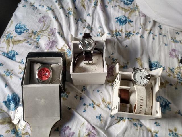 Relógios police original e Diesel original
