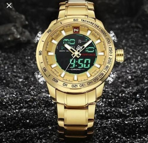 Promoção só HOJE relógio Naviforce original lacrado analógico e Digital