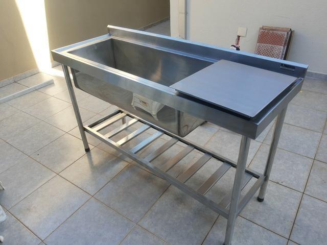 10x SEM JUROS* Coifas, mesas, pias, bancadas em inox - Foto 2