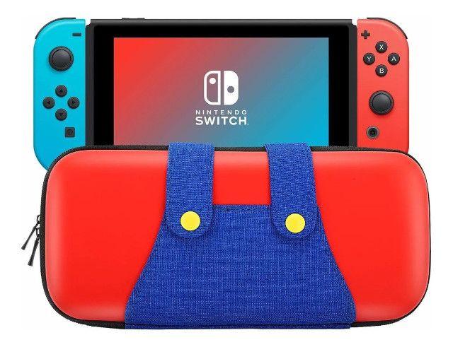 Case Nintendo Switch Mário - Capa Protetora Mário Vermelha