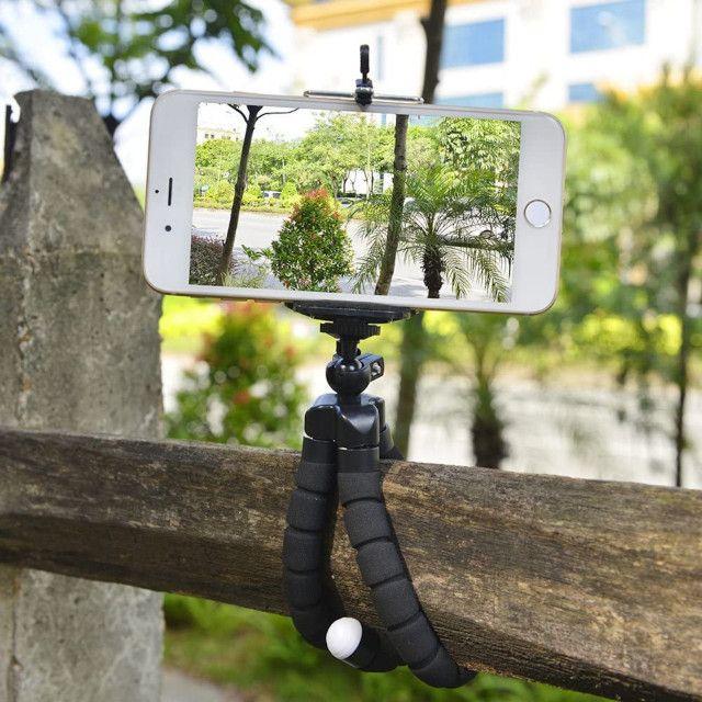 Tripé Suporte Flexível  Para Celular Camera MiniPod Selfie - Foto 6