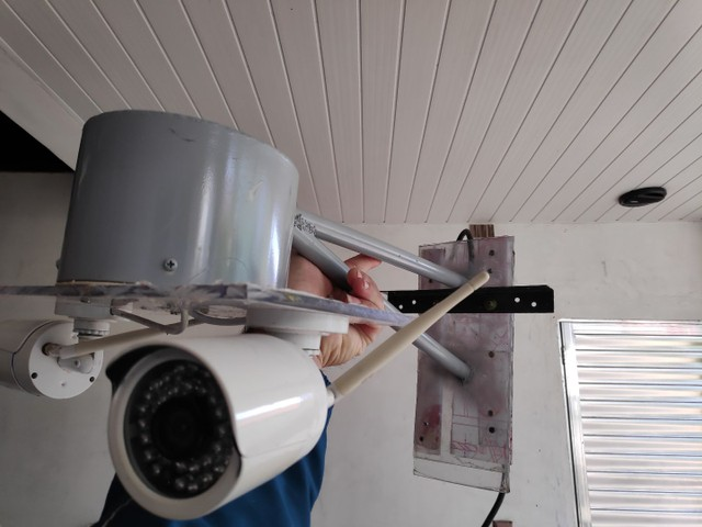 3 câmeras IP com fonte e nvr para gravação - Foto 3