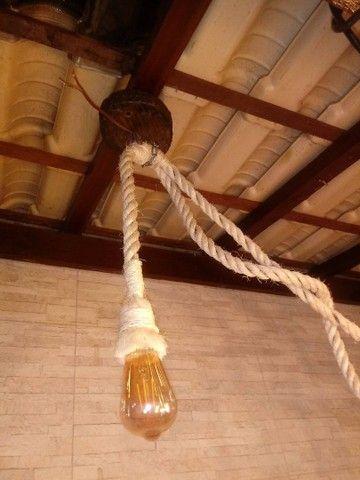 Luminária rústica em cordas - Foto 2