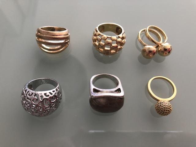 Kit anéis folhados