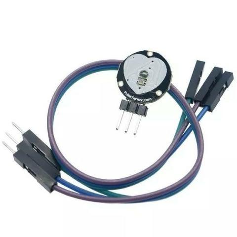 COD-AM203 Módulo Sensor Medidor De Pulso Batimento Cardiaco Arduino Automação Robotica - Foto 2