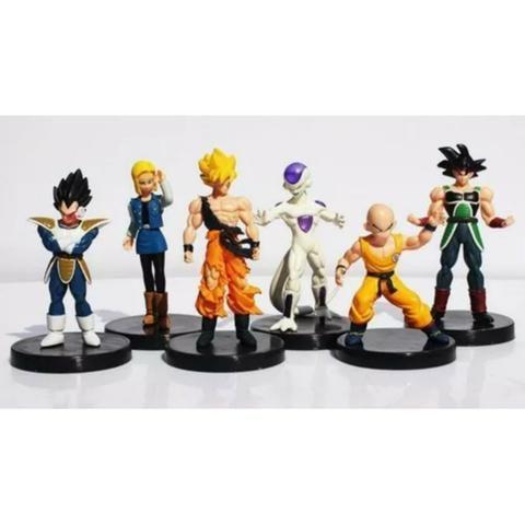 6 Boneco Dragão Ball Z Goku Frieza Vegeta Kuririn Burdock 18 - Foto 4