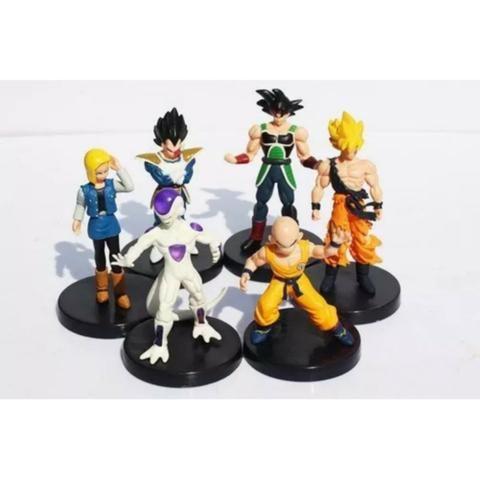 6 Boneco Dragão Ball Z Goku Frieza Vegeta Kuririn Burdock 18 - Foto 5