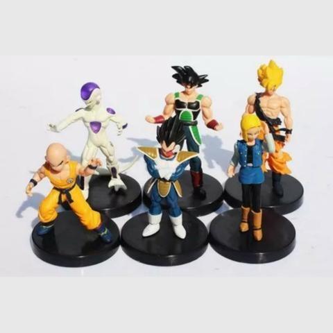 6 Boneco Dragão Ball Z Goku Frieza Vegeta Kuririn Burdock 18