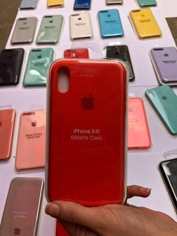 Case capa de silicone Apple para IPhone 6, 6s, 7, 8, 7 Plus, 8 Plus, X, XS é iPhone 11 - Foto 4